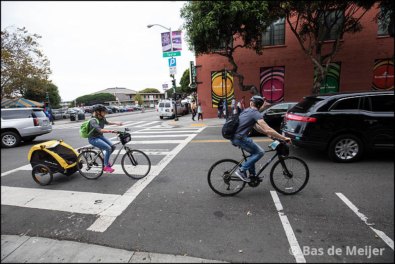 Fietsers in San Francisco